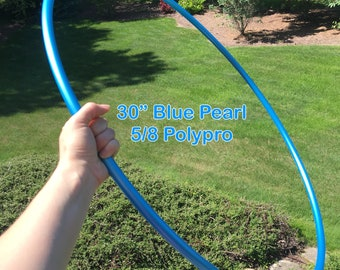 PRE-ORDER only (ships 6/27) Pre-made Ready To Ship 5/8 Blue Pearl Hula Hoop