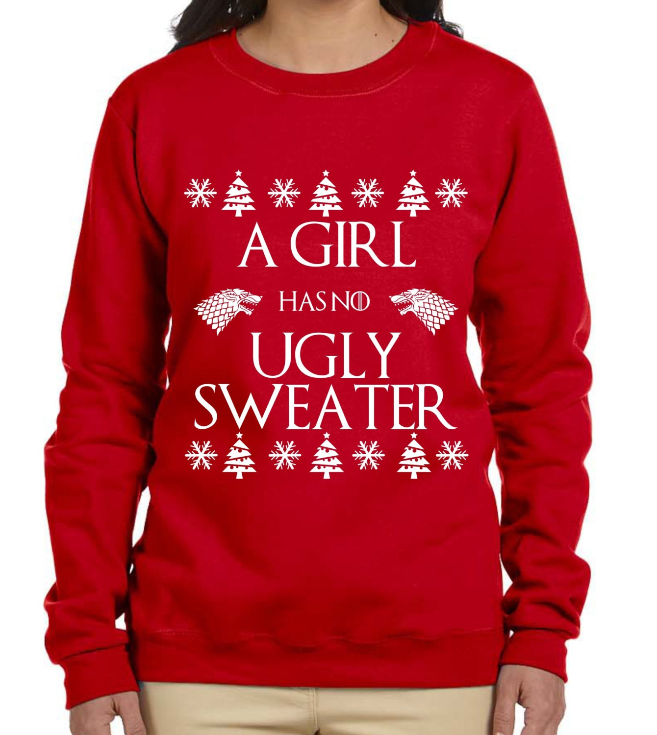 a7b187dd4 A Girl Has No Ugly Sweater Game of Thrones Christmas Sweater