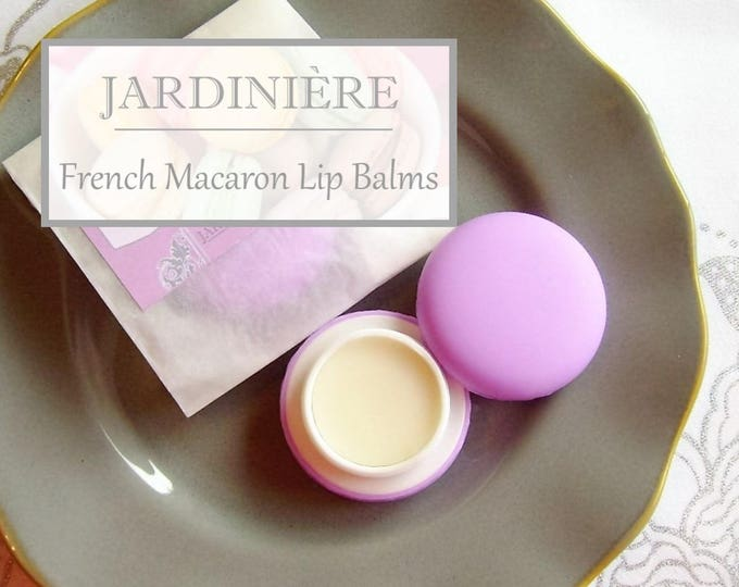 French Macaron Lip Balm // 10 naturally delicious flavors - sweet, fruity, or tea lip balms
