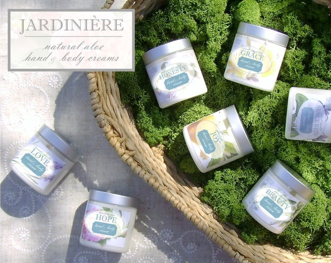 Aloe Hand & Body Cream // Carnation, Lemon Lily, Grapefruit, Rose, Honeysuckle Apple, Lavender Vanilla, Jasmine, Violet