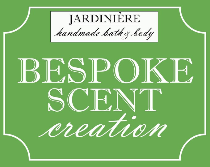 Bespoke Fragrance Creation // original, custom, natural, handmade gift // individual or business