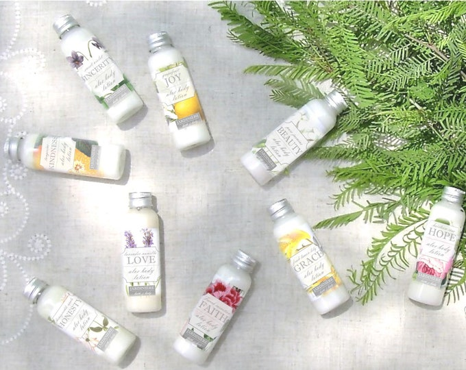 Natural Aloe Lotion // Carnation, Lemon Lily, Grapefruit, Rose, Honeysuckle, Lavender Vanilla, Jasmine, Strawberry, Tangerine, Violet