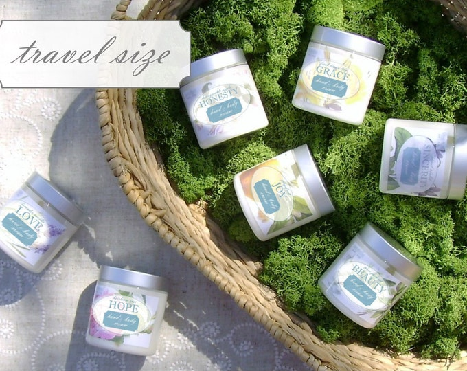 Aloe Hand & Body Cream - Travel/Purse Size // 9 Garden-Inspired Scents
