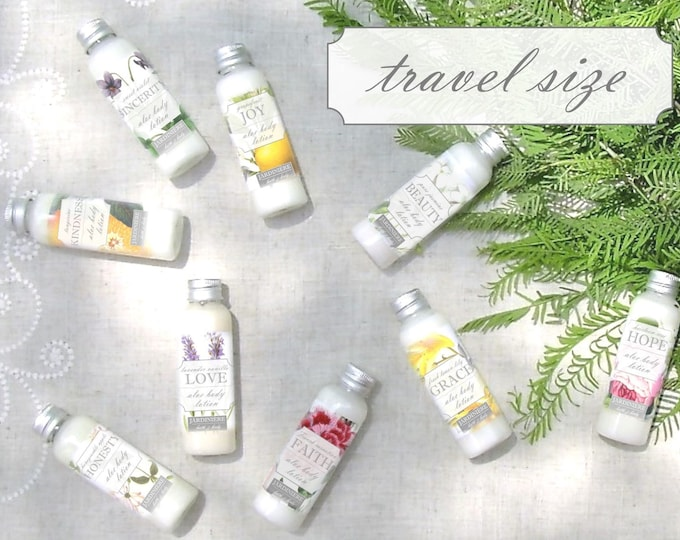 Aloe Body Lotion - Travel/Purse Size // 9 Garden-Inspired Scents // Natural Skin Moisturizer