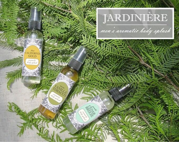Men's Aromatic Body Splash // Natural // Triple Citrus, Cedar Breeze, Vanilla Tobacco, Peppermint Eucalyptus