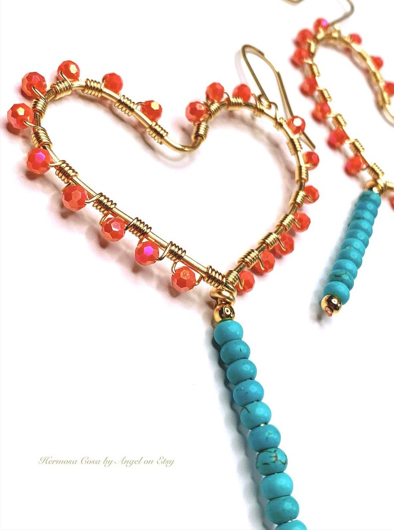 Lollipop hearts  Lollipop heart earrings  Valentines day gift for her  Valentines day jewelry  Heart earrings