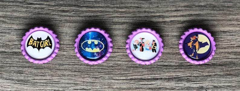 DC Comics Wonder WomanHarley QuinnBatgirl Bottlecap Magnet Sets