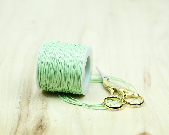 SEA GREEN 1mm WAXED COTTON CORD JEWELLERY MAKING FREE POST CHOSE YOUR QTY
