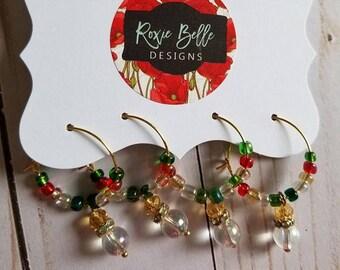 Holiday/Christmas Wine Charm Set