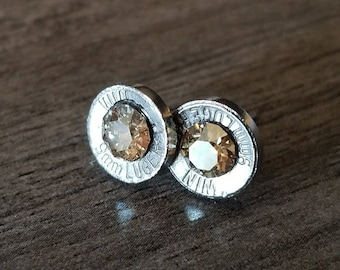 9 mm Bullet Stud Earrings