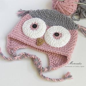pink grey owls etsy
