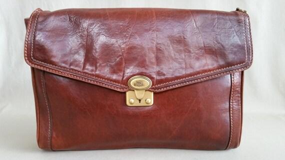 Vintage Brown Leather The Bridge Bag, Shoulderbag,