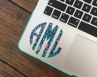 BOGO Lilly Pulitzer Inspired Monogram Decals- Monogram Sticker- Waterproof Decal- Preppy Monogram Stickers