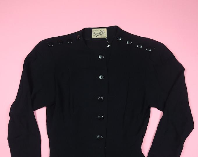 Donna Hale New York Black Button Vintage Dress