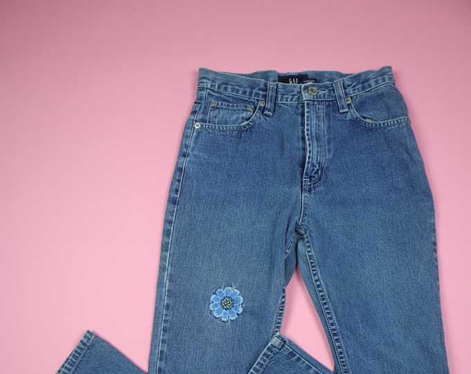 Gap Flower Patches 1990's Vintage Denim Jeans