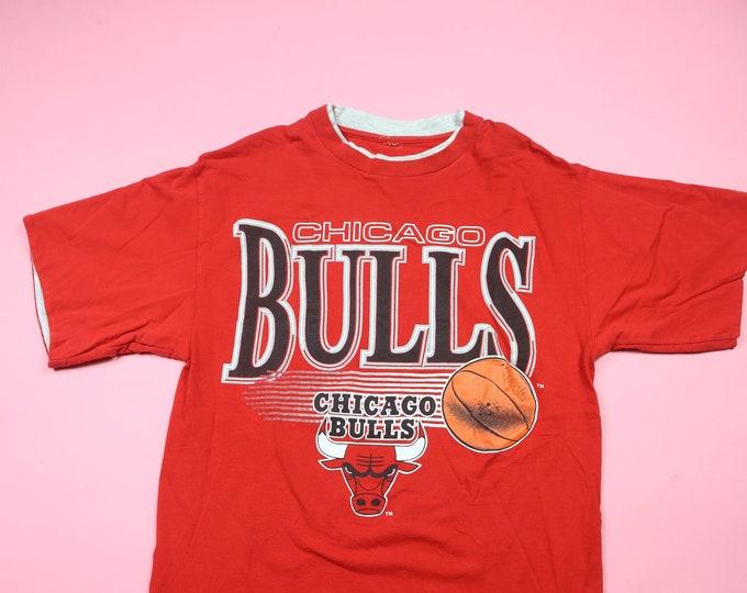 Chicago Bulls NBA 1990s vintage Layered Sleeve Tshirt