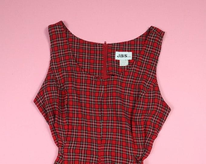JBS Plaid Grunge 1990's Vintage Dress