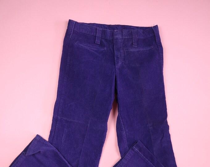 Madewell Purple Corduroy 1970's Vintage Pants