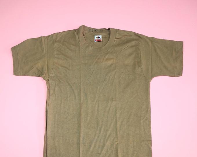 Blank Army Fruit of The Loom 1990's vintage Tshirt