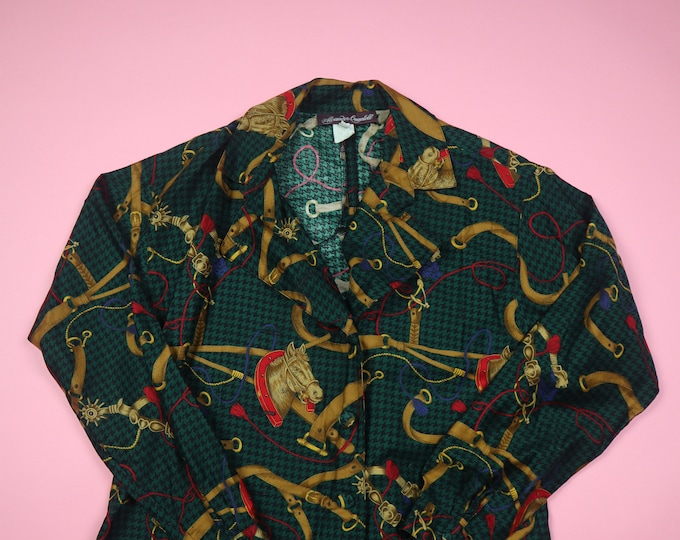 Alexander Campbell All Over Print Horses 1990's vintage Shirt