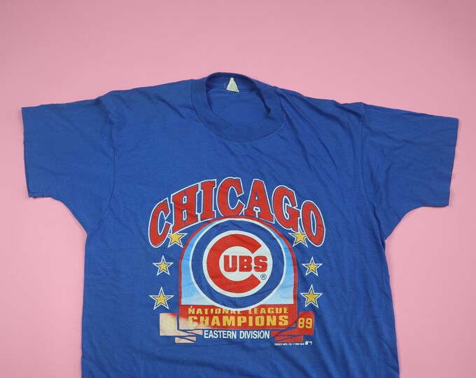 Chicago Cubs MLB National League Champions Eastern Division 1989 Vintage Tshirt
