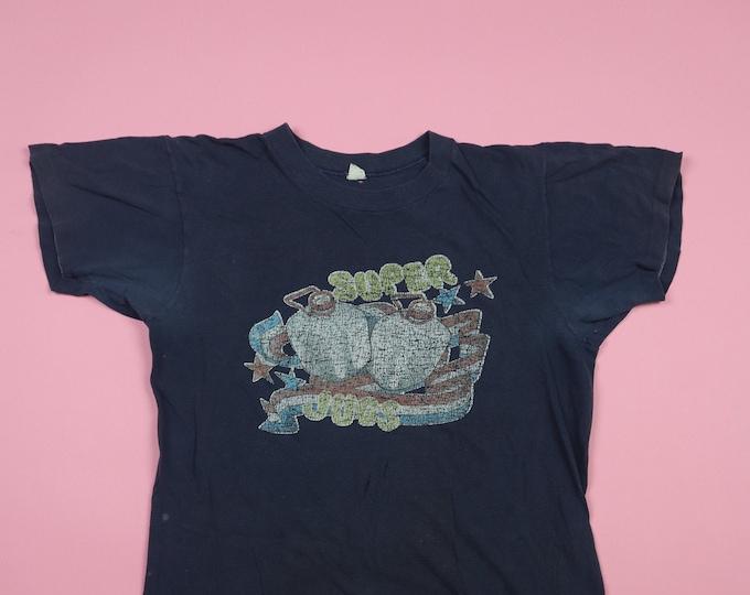 Super Jugs Iron On 1970's Vintage Shirt