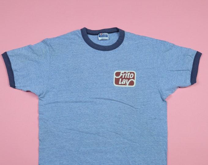 Frito Lay ringer tee novelty 1990s vintage tshirt