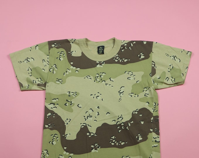 Desert Storm Camouflage Army Combat vintage Tshirt