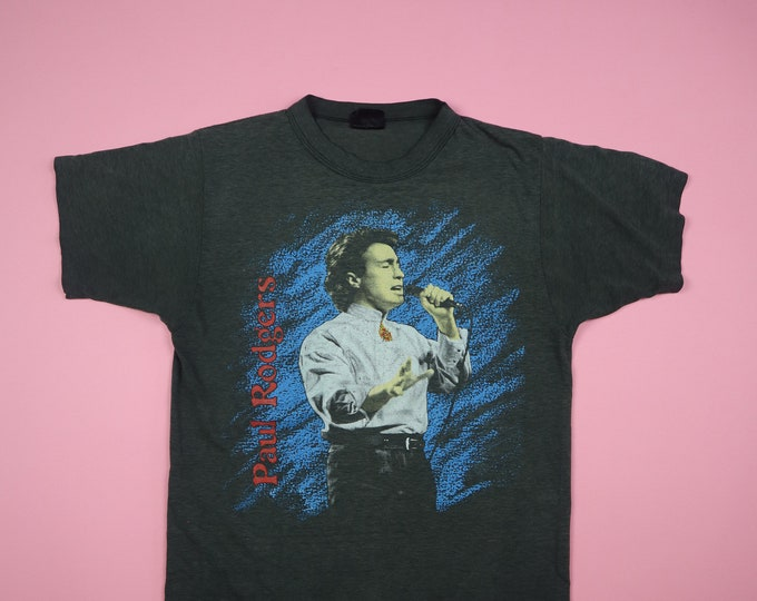 Paul Rodgers The Firm 1980's Vintage Tshirt