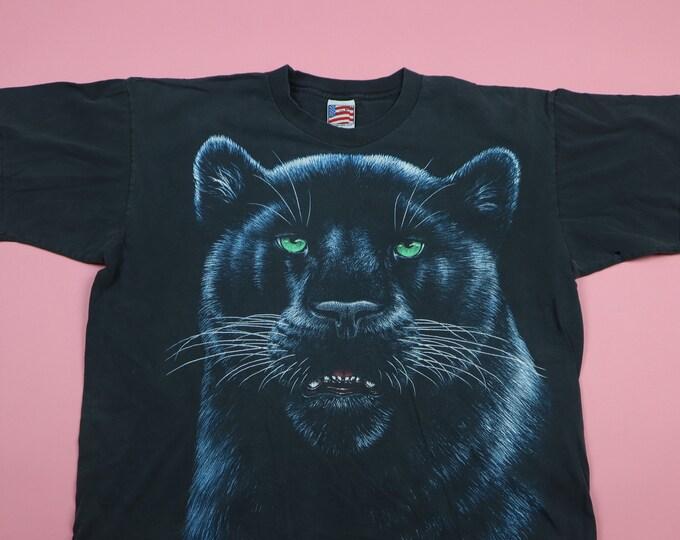 Black Panther face 1990's Vintage Tshirt