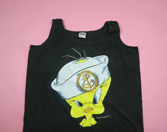 Looney Toons Tweety Bird Sailor 1990s Vintage Tank Top