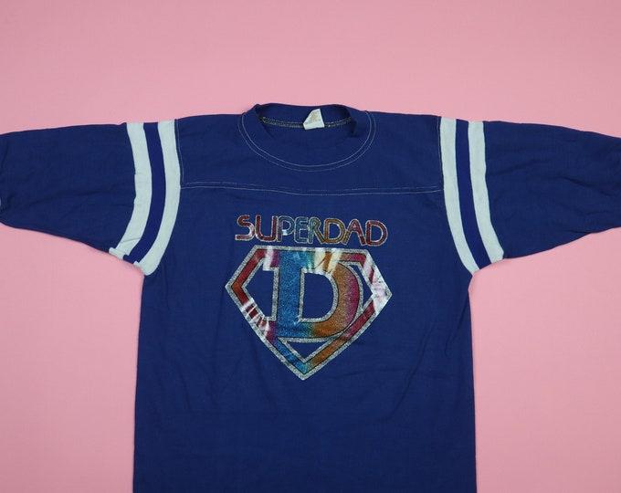 Super Dad Iron On 1970's vintage Tshirt
