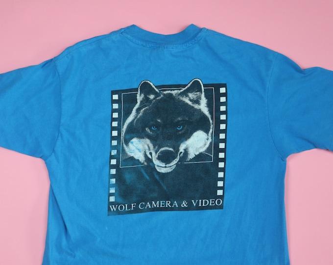 Wolf Camera & Video 1990's Vintage Tshirt