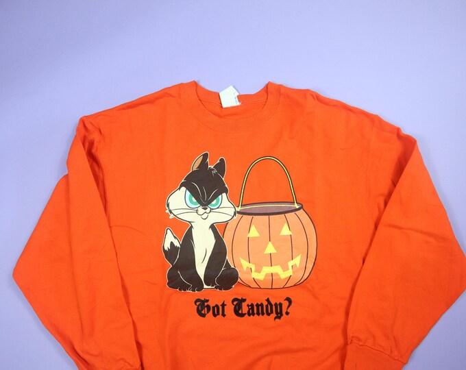 Looney Tunes Pussyfoot Got Candy Halloween 2000's Vintage Sweatshirt