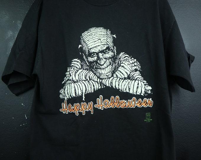 Happy Halloween Mummy 1994 vintage Tshirt Glow in the Dark