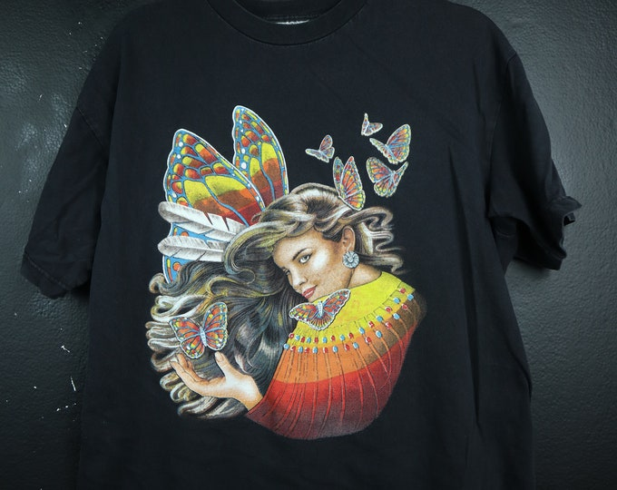 Butterfly Woman Vintage Tshirt