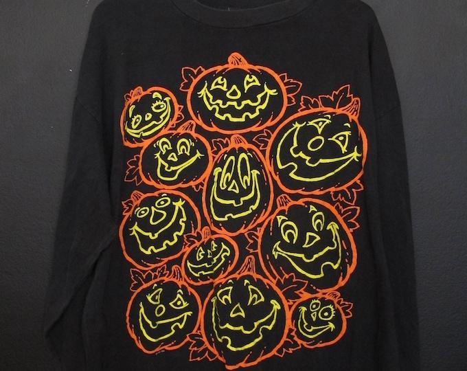 Hallmark Halloween Pumpkins 1990s vintage Longsleeve