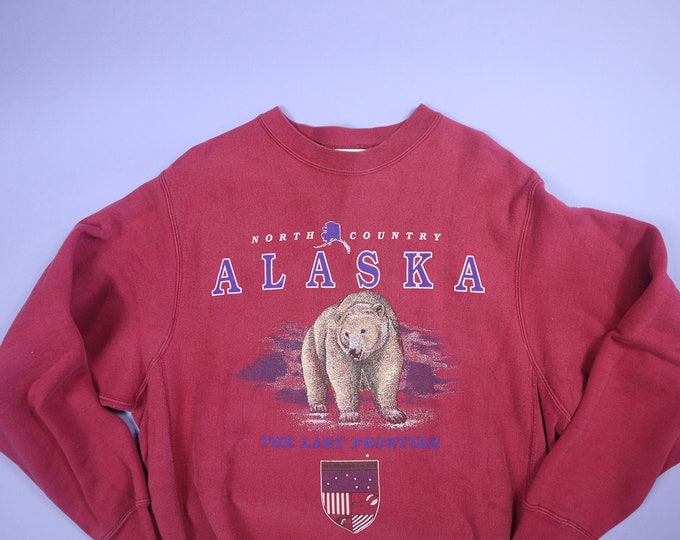 Alaska Bear North Country 1990's vintage Sweatshirt