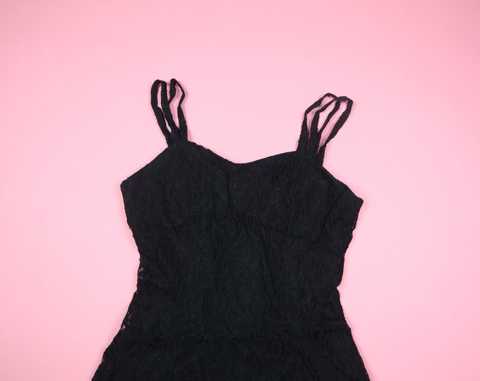 All That Jazz Goth Lace 1990's Vintage Dress