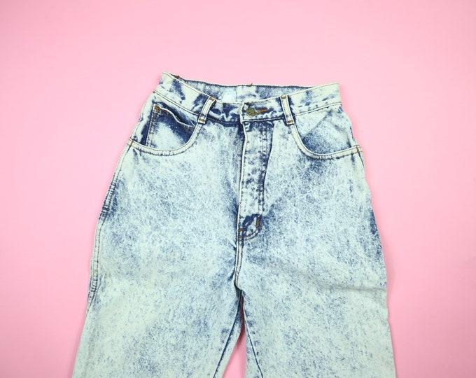 Acid Wash 1990's Crop Denim Pants