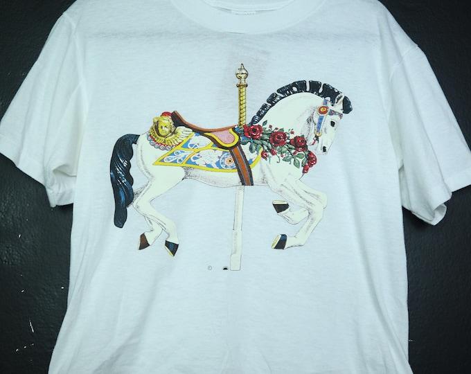 Carousel Horse 1990's vintage Tshirt