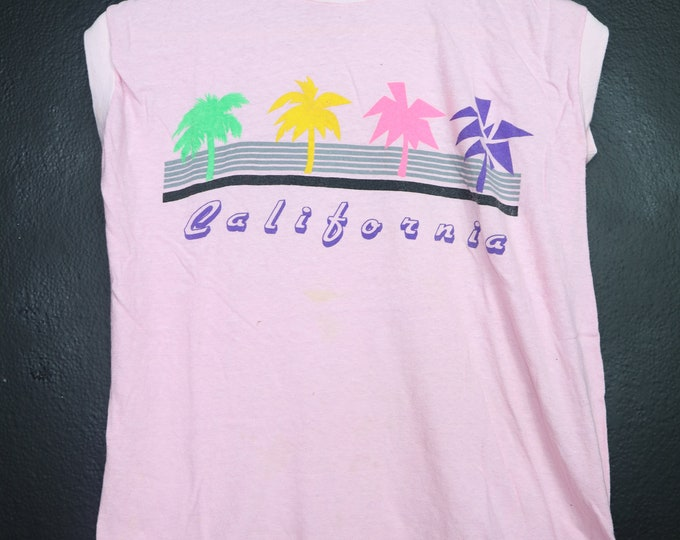 California Palm Trees 1990s vintage Sleeveless Shirt