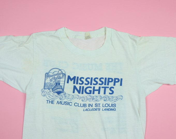 Mississippi Nights St-Louis 1980's vintage Tshirt