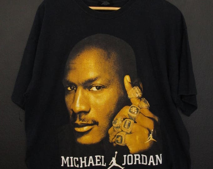 Michael Jordan rings air jordan 1990's Vintage Shirt