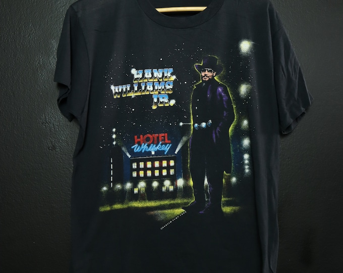 Hank Williams Hotel Whiskey 1992 Vintage Tshirt