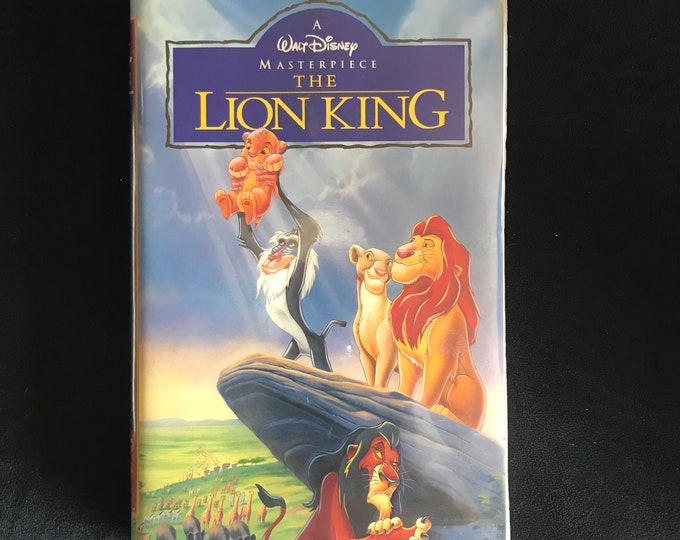 The Lion King Disney 1990's Vintage Movie VHS