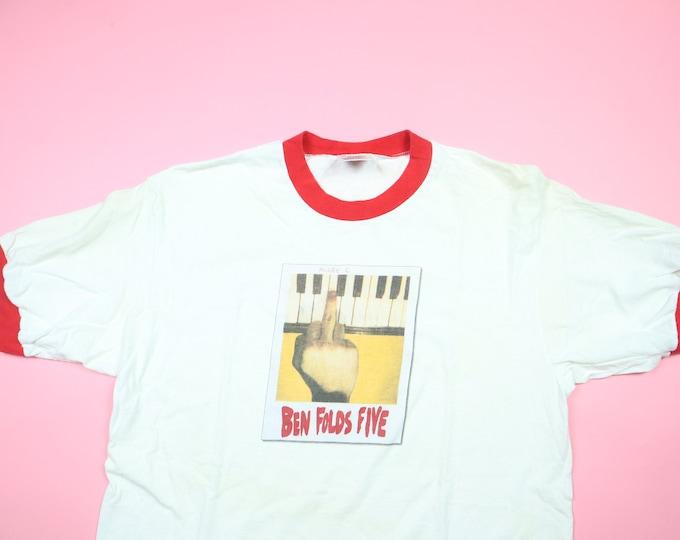 Ben Folds Five Middle C 1990s Vintage Ringer Tshirt