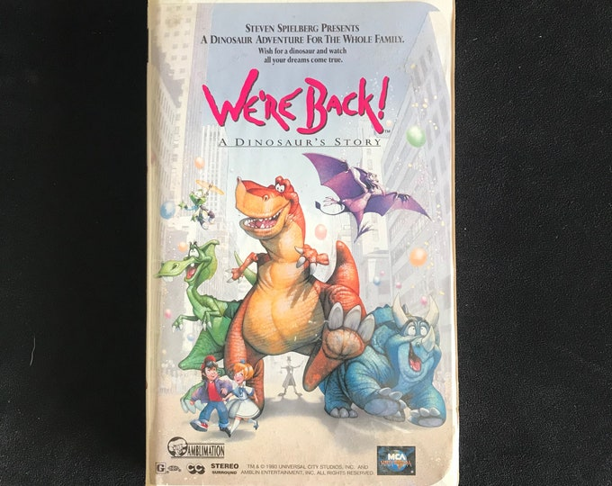 We're Back! A Dinosaur's Story 1990's Vintage Movie VHS