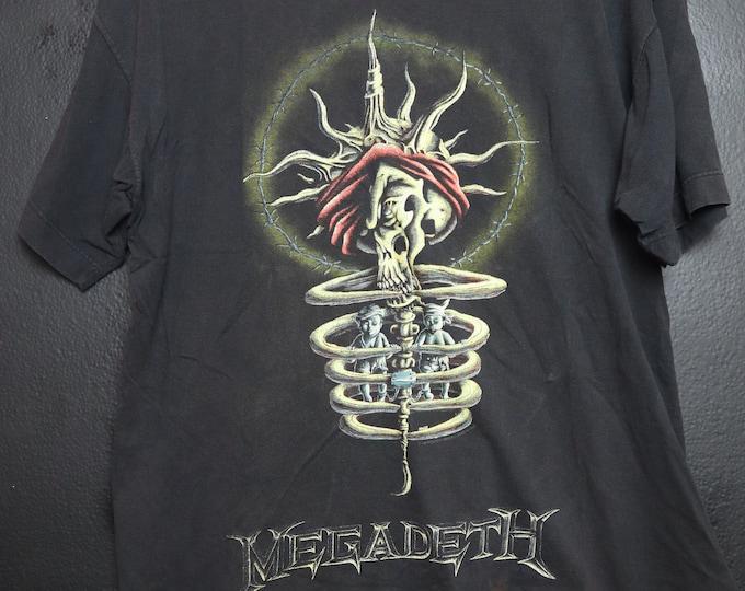 Megadeth Youthanasia North American Tour 1995 Vintage Tshirt