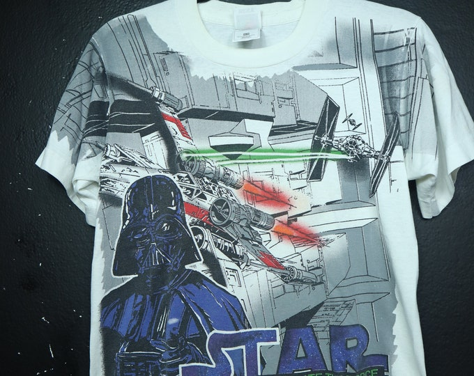 Star Wars Never Underestimate The Force 1990s tshirt